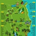 2013 Bike Tour Map