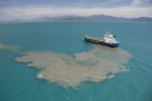 Dredge spoil dumping in the GBR Marine Park, Cairns 2014. (c) Xanthe Rivett / CAFNEC / WWF