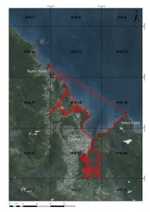 Proposed outer boundary for the Cairns Net Free Zone