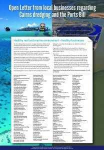 Open letter FNQ business dredging and ports bill 750