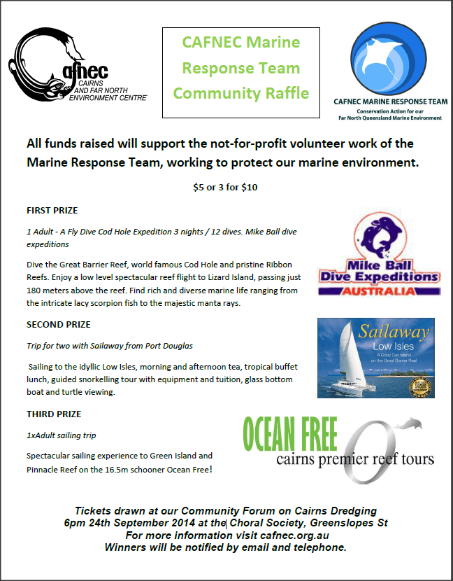 Win Great Prizes! CAFNEC Marine Response Team community raffle