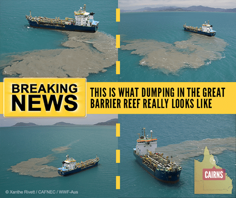 Pictures of Cairns dredging highlight impact