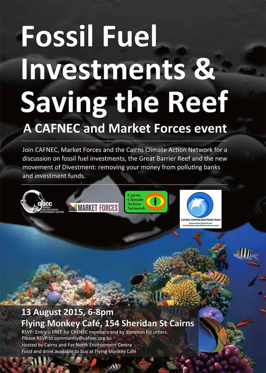 Fossil Fuel Investments and saving the Reef