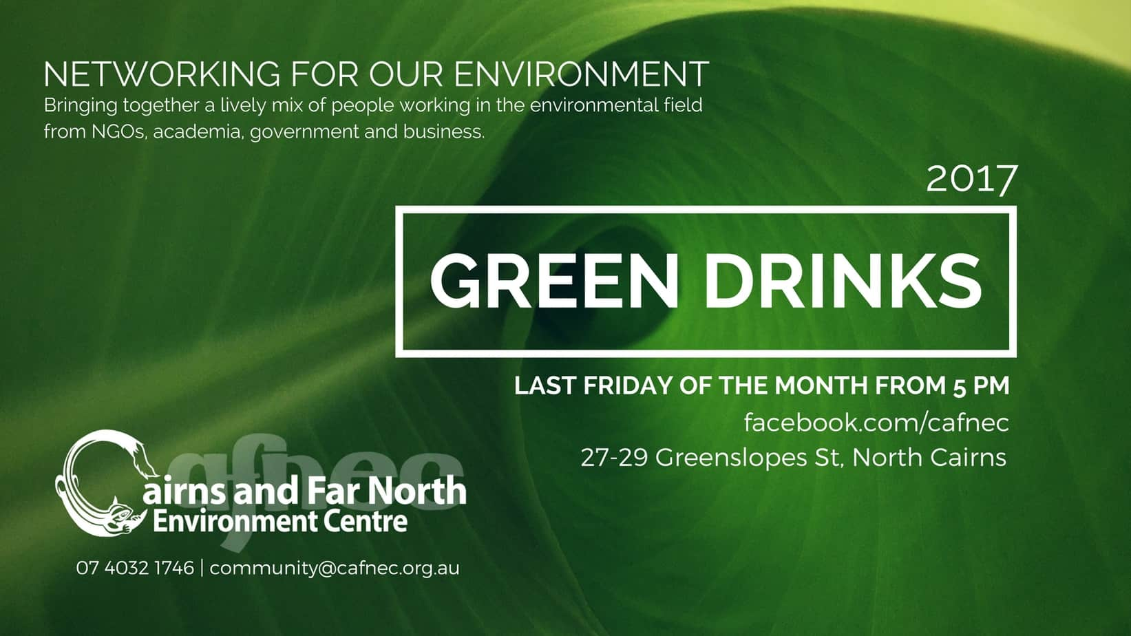 Special Green Drinks October
